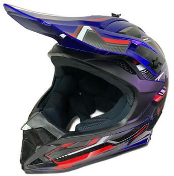 Blue Base MX Motocross Helmet