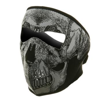 Glow in the Dark Skull Neoprene Face Mask
