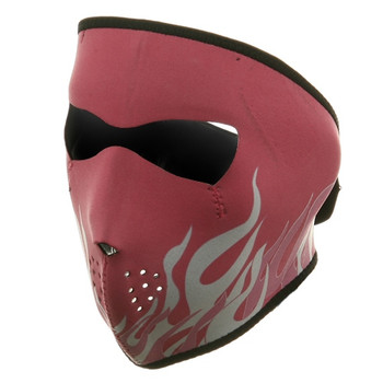 Pink & White Flame Neoprene Face Mask