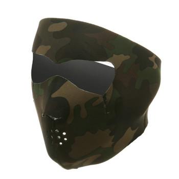 Woodland Camouflage Neoprene Face Mask