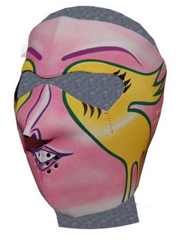 Pink Mardi Gras Neoprene Face Mask