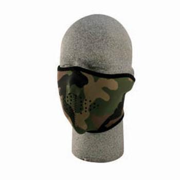 Woodland Camo 1/2 Neoprene Face Mask