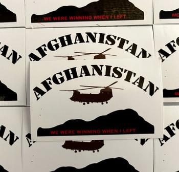 Afghanistan We Were Winning When I Left Sticker
