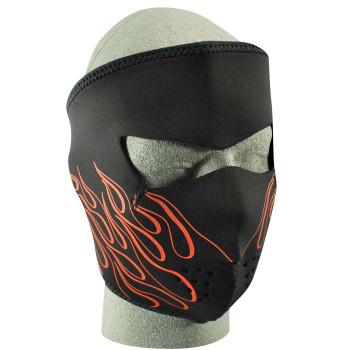 Orange Flame Neoprene Face Mask