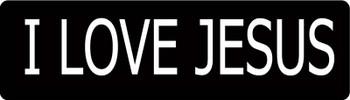 I Love JESUS Motorcycle Helmet Sticker