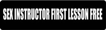 Sex Instructor First Lesson Free Motorcycle Helmet Sticker