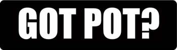 Got Pot? Motorcycle Helmet Sticker