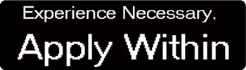 Experience Necessary. Apply Within Motorcycle Helmet Sticker