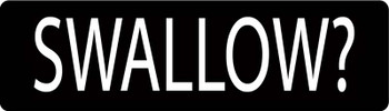 Swallow? Motorcycle Helmet Sticker