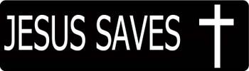 Jesus Saves Motorcycle Helmet Sticker