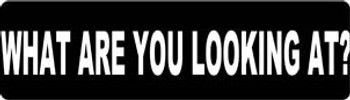 What Are You Looking At? Motorcycle Helmet Sticker