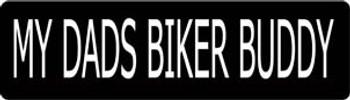 My Dads Biker Buddy Motorcycle Helmet Sticker