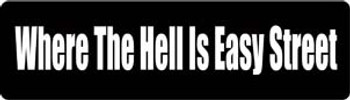 Where The Hell Is Easy Street Motorcycle Helmet Sticker