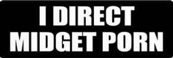 I DIRECT MIDGET PORN Motorcycle Helmet Sticker