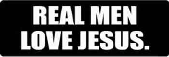 REAL MEN LOVE JESUS Motorcycle Helmet Sticker