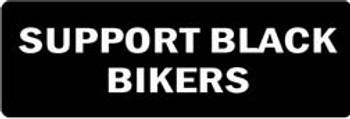 SUPPORT BLACK BIKERS Motorcycle Helmet Sticker