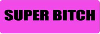 SUPER BITCH Motorcycle Helmet Sticker
