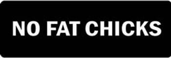 NO FAT CHICKS Motorcycle Helmet Sticker