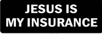 JESUS IS MY INSURANCE Motorcycle Helmet Sticker