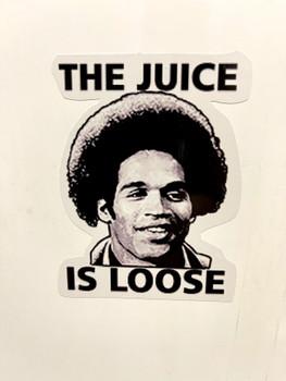 The Juice Is Loose Sticker OJ Simpson Computer Sticker OJ Simpson The Juice is Loose Hydroflask Sticker