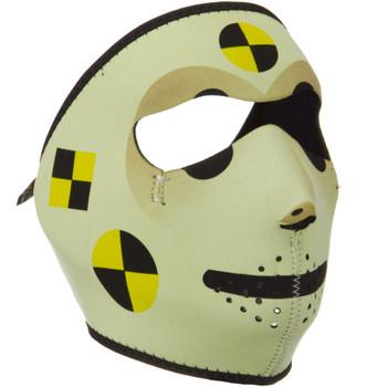 Crash Dummy Neoprene Face Mask Side