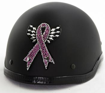 Breast Cancer Rhinestone Helmet Patch