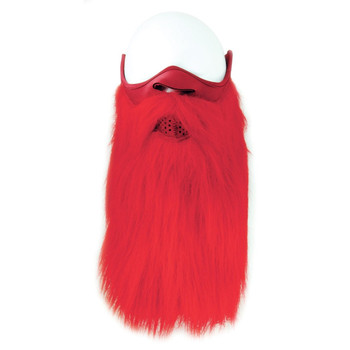 Red Beard Face Mask Front