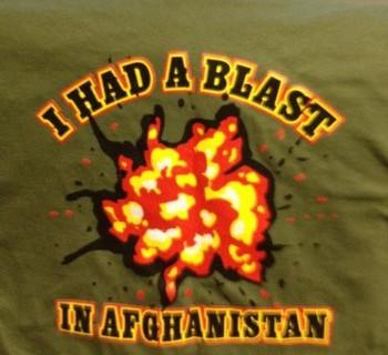 I had a blast in Afghanistan t-shirt