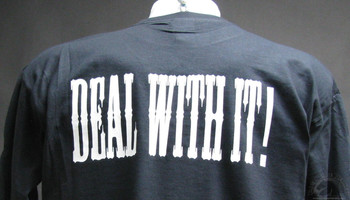 deal with it black shirt