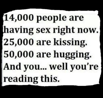 14,000 people are having sex right now