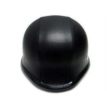 DOT German Leather Motorcycle Helmet Top