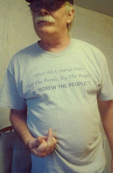 When did it change from of the people, by the people to screw the people shirt