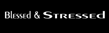 Blessed & Stressed Motorcycle Helmet Sticker