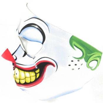 Evil Clown Neoprene Face Mask Side