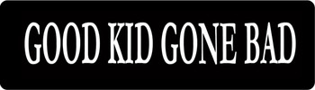 Good Kid Gone Bad Motorcycle Helmet Stickers