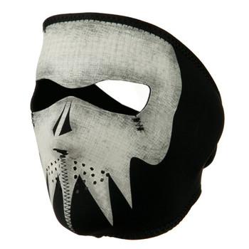 Glow in the Dark Ghost Skull Neoprene Face Mask