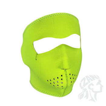 Neoprene Full Face Mask - High Visibility Neon Yellow