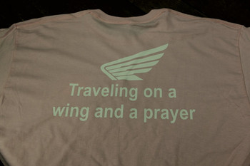 Traveling on a wind and a prayer Pink Tshirt