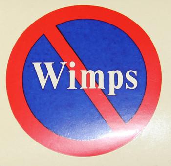 Wimps Motorcycle Helmet Sticker