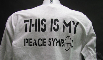 This is my peace symbol Gray shirt