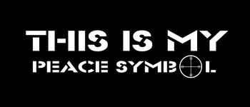 This is my Peace Symbol Motorcycle Helmet Sticker