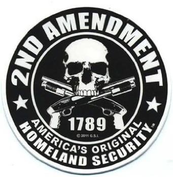 2nd Amendment Motorcycle Helmet Sticker
