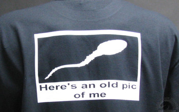Here's an Old Pic of Me Black T-Shirt