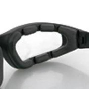 Foamerz 2 Sunglasses, Blk Frame, Anti-fog Clear, ANSI Z87