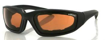 Foamerz 2 Sunglasses, Blk Frame, Anti-fog Amber, ANSI Z87