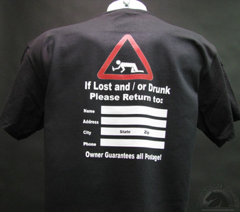 if lost and or drunk please return to SHIRT