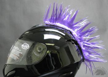 Purple Motorcycle Helmet Mohawk
