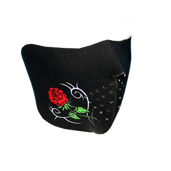 Rose Neoprene Half  Face Mask
