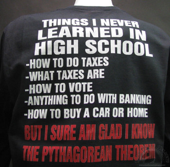 things i never learned in high school  black shirt