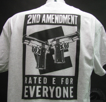 2nd amendment rated e for everyone gray shirt